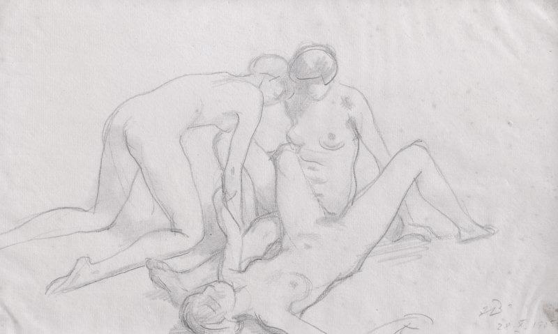 Nude drawings having sex wife